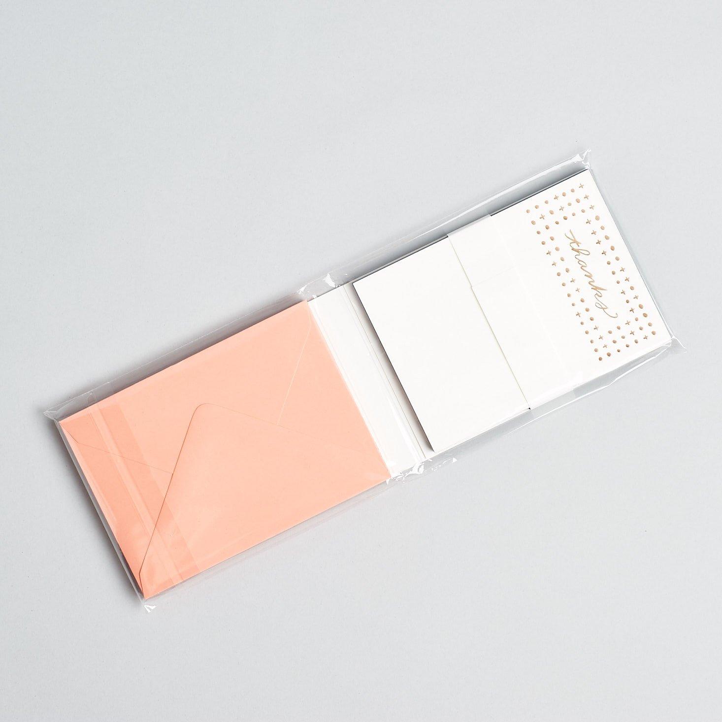 Postmarkd Studio May 2019 stationary subscription box review