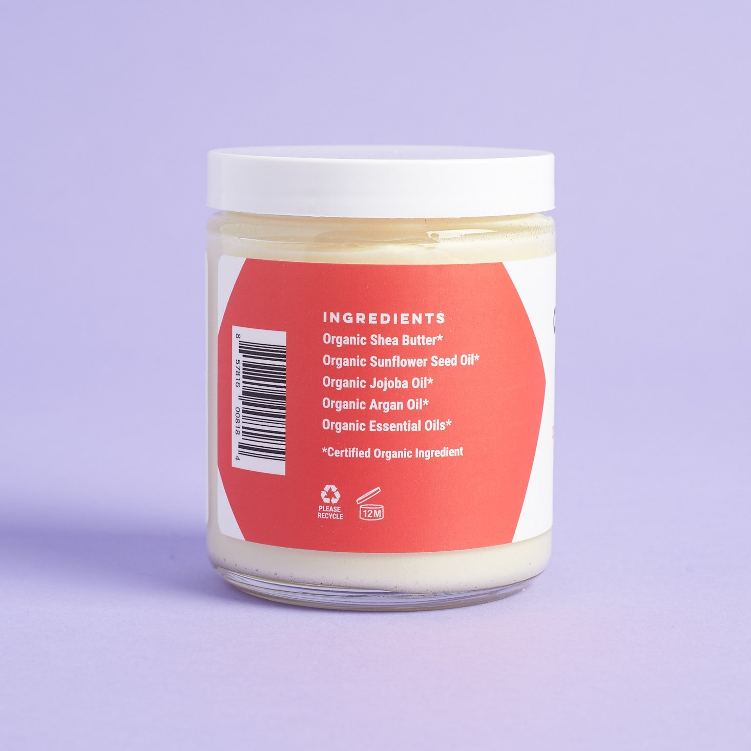 ingredients for ORGANIC Bath Co. Zesty Morning Organic Body Butter