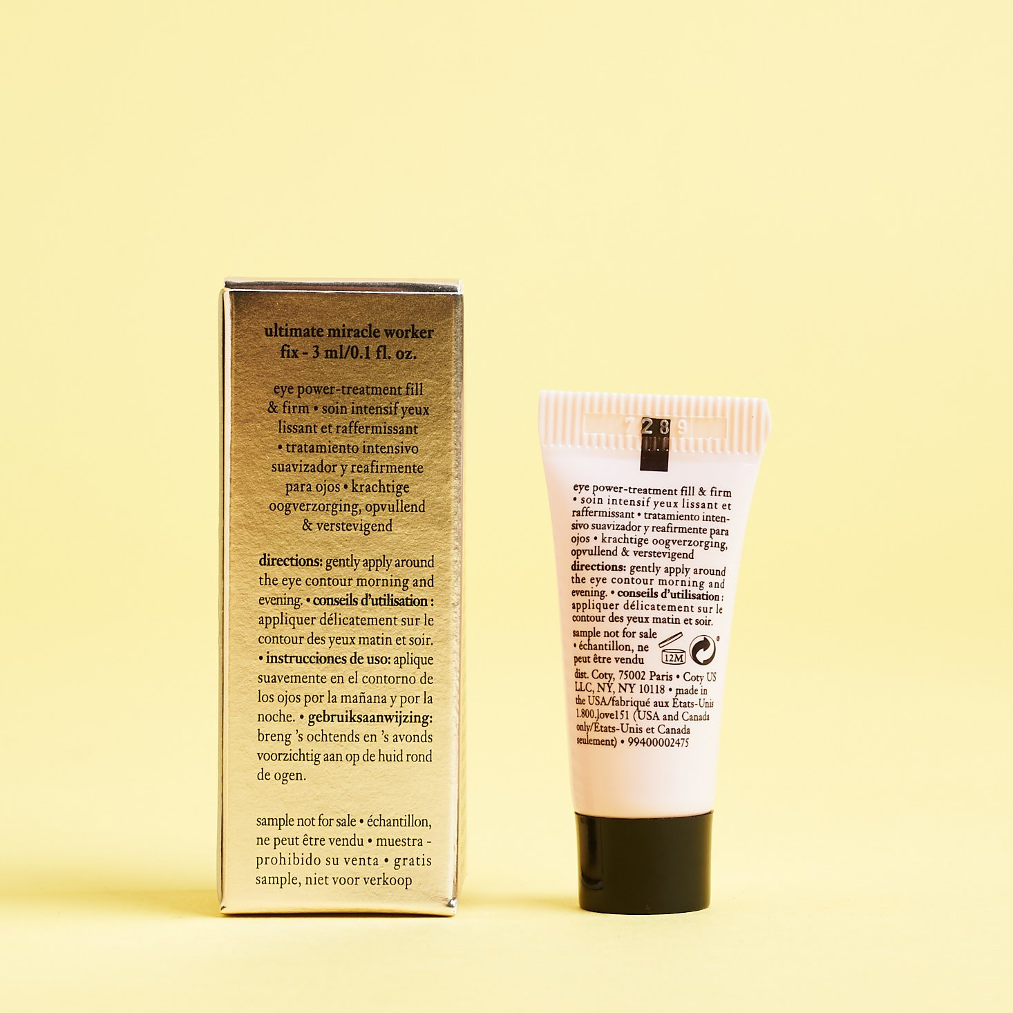 back of Philosophy Ultimate Miracle Worker Fix Eye Fill & Firm Treatment with box