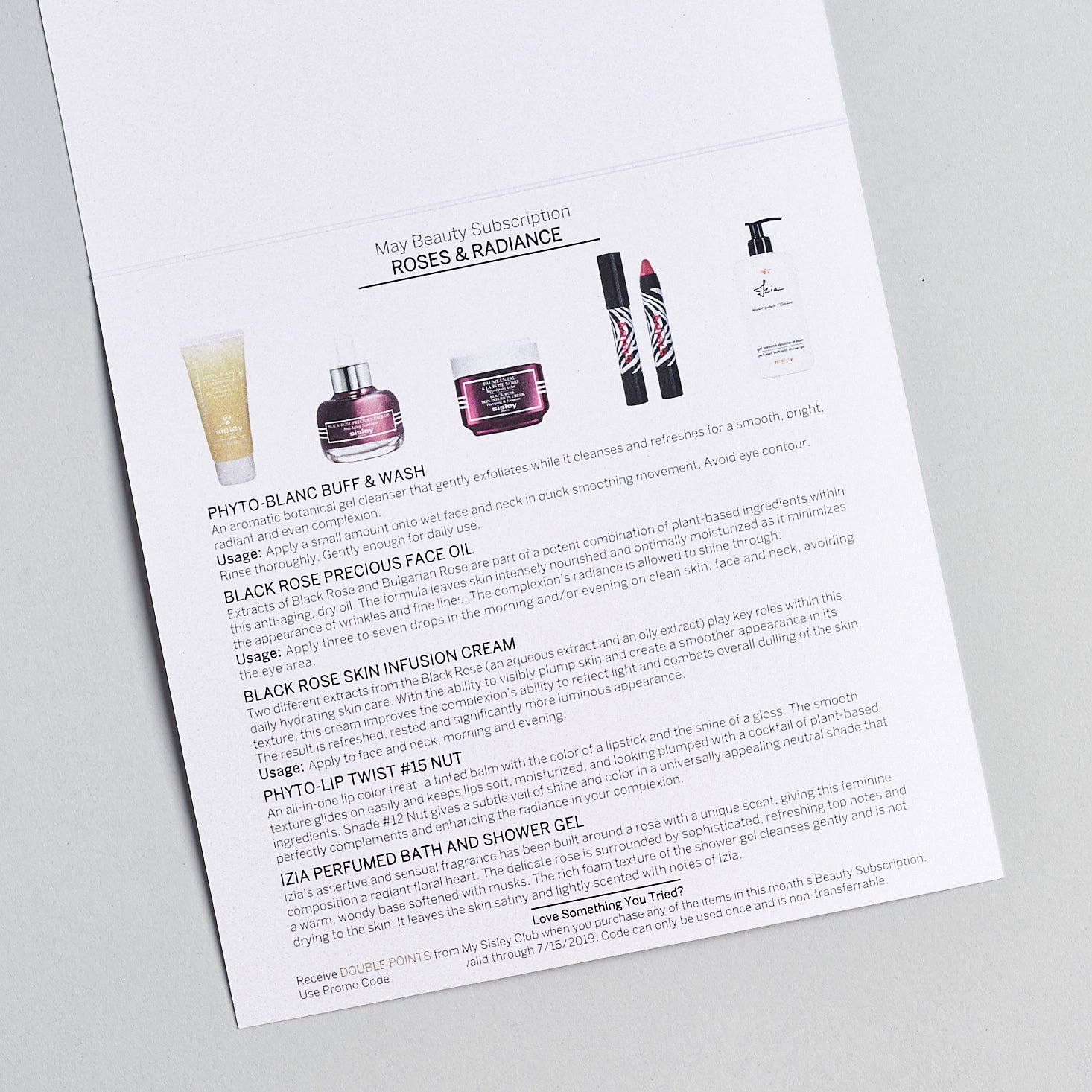 Sisley June 2019 Review product info