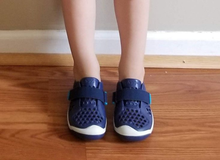 Stitch Fix Kids Boys June 2019 water shoes on