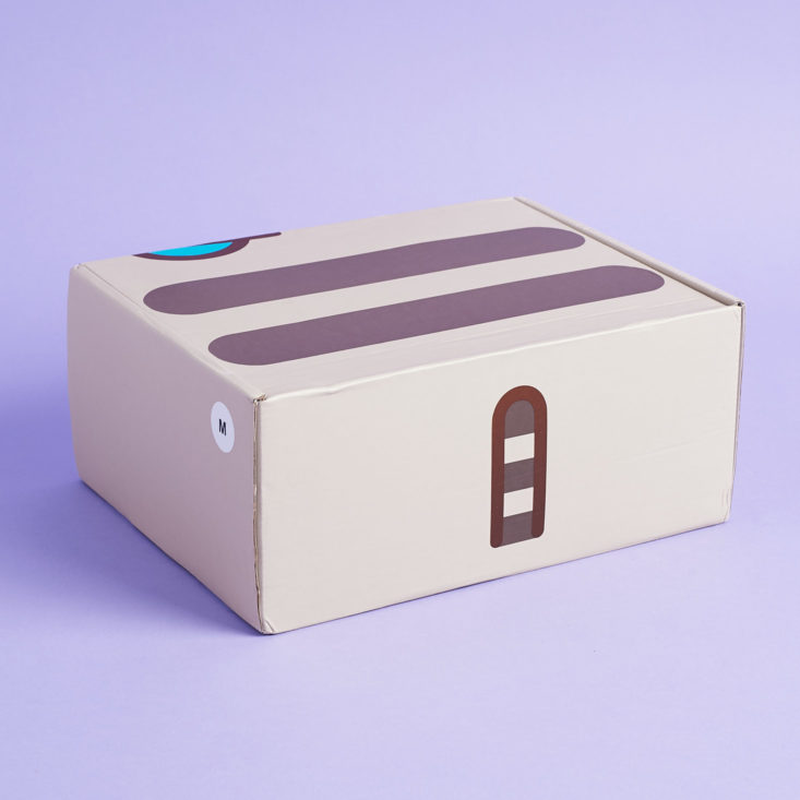 Bak of Pusheen box showing tail