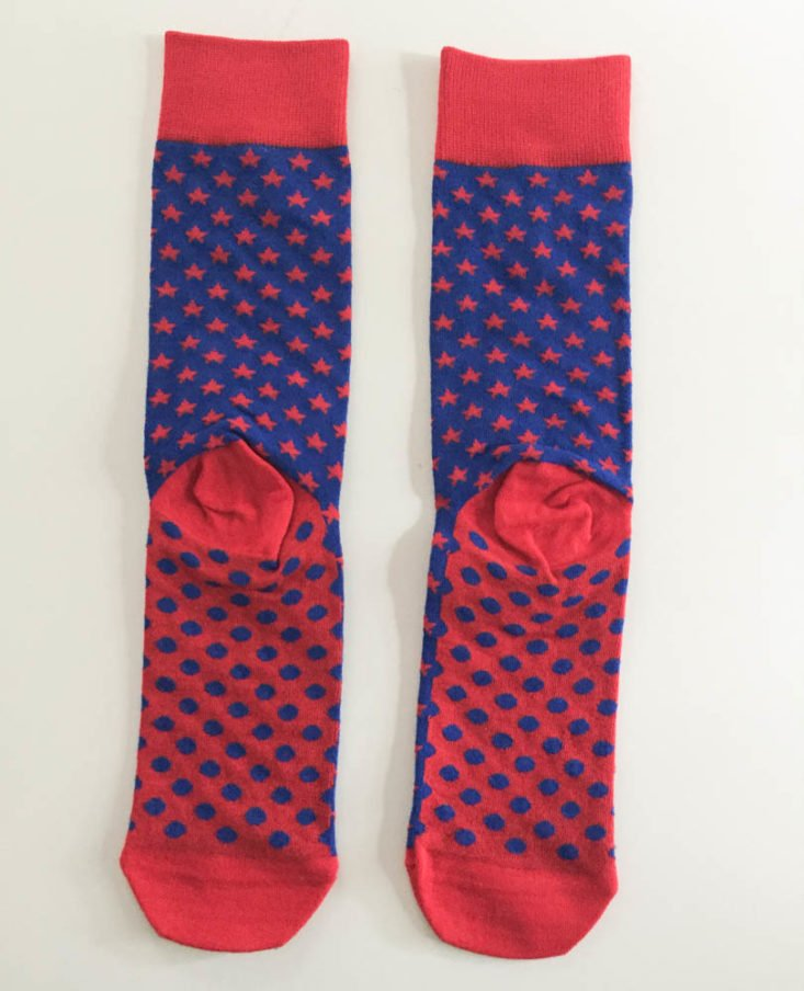 Say It With A Sock Men's Two Pair June 2019 -Men's Star Spangled Socks back Top