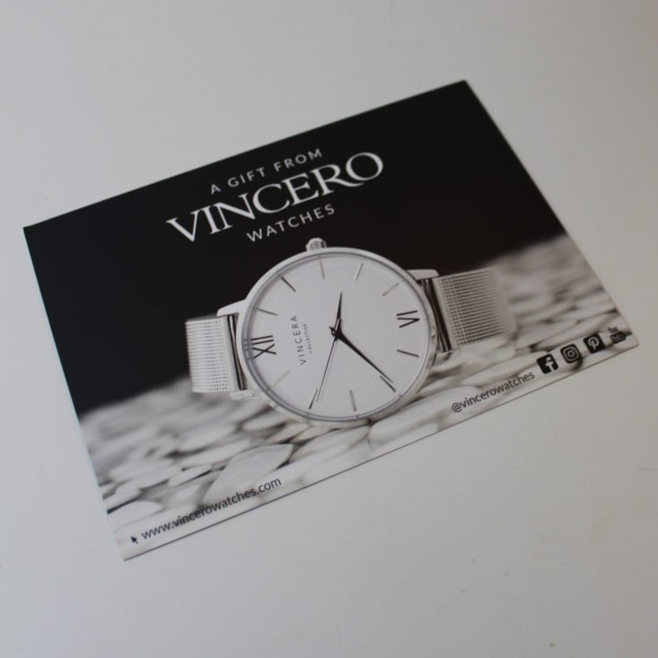 Bulu Box August 2019 - Vincero Watches Ad Front Top