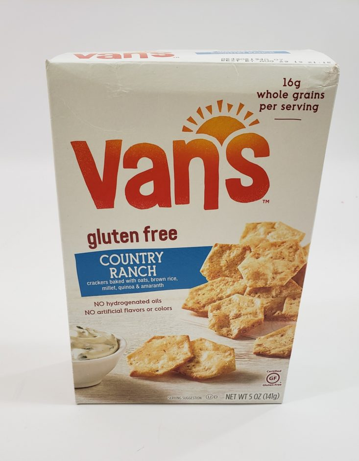 Snack With Me August 2019 - Vans Country Ranch Crackers Packed Front