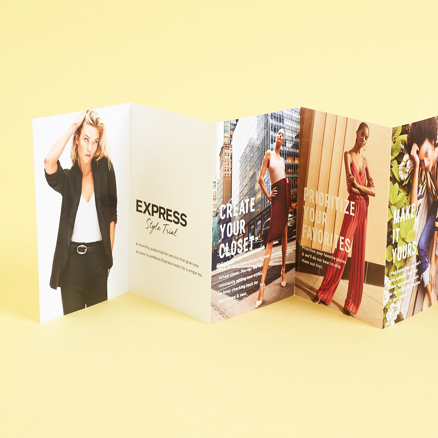 Express Style Trial info book accordion