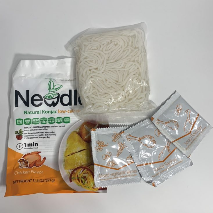 Keto Krate Review October 2019 - Noodles Plated 1 Top